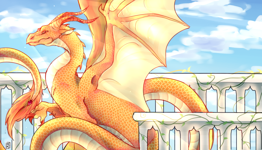 DRAGON BANNER ART